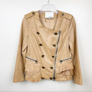 3.1 Phillip Lim Leather Moto Jacket w/ Ruffles Sz6